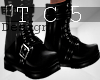 Black belted boots