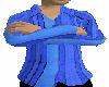blue stripped shirt