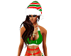 Miss Candy Cane Xmas Hat