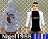 N88 ~ Striped Kanye Hood