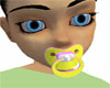 yellow and pink binky