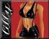 Sexy latex shorts set