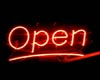 LUVI NEON RED OPEN SIGN