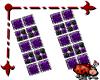 Bezel Earrings Purple