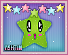 ! KIDS Green Kawaii Star