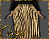 Pleated midi Golden
