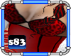 [s83] Red Leopard Top