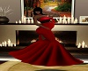 Red Fall Prego Gown