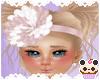 +Dusty Rose Hair Flower