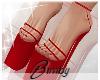 Red 'kini Heels