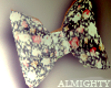[Mighty] Floral Bow tie