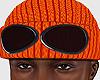 Goggle Beanie Orange