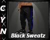 Blk Leather Sweatz