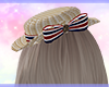 Brown bow hat*tricolore