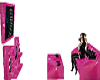 Pink n black games couch