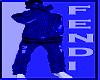 fendi blue hoody