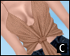 C` Knotted Cami Tan