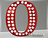 H. Marquee Letter Red O