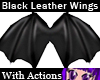 Blk Leather Wings/Action