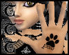 TTT PawPrint Palm Tattoo