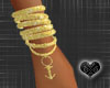 *Anchor Gold Bracelet R