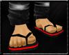 Black/red flipflops(M)