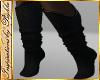I~Black Knit Boot Socks