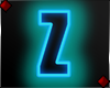 Neon Letter Z