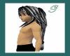 black streaked hair