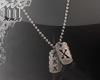 m> Tagged X Necklace