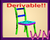 Derivable chair