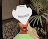 white hat silver strip