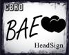 f Bae HeadSign
