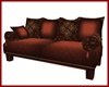 Oriental Red Brown Couch