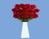 B&W Red roses in vase