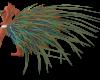 Teal Peacock Tailfeather