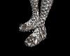 Snakeskin High Boots