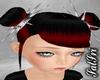 Redish/Black Spike Buns
