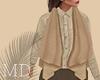 Cream Linen Vest