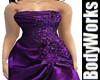BBW Purple Satin Gown