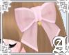 Sheer Ribbon Clip~ Pink