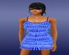 cool blue dance dress