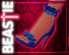 Frilly Stilettos Blue