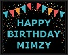 MIMZY bday floor sign