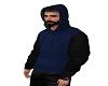 2 tone hoodie blue/black