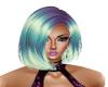 Hair Purple Green Blond