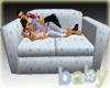 Family Naptime Blue Sofa