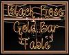 Blck Rose Gold Bar Table