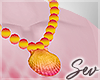*S Sunset Necklace