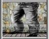 (N2) Gray Old Pants